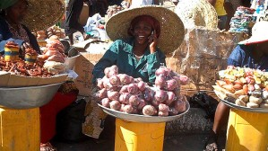 Vendor at Makola Market, Accra, Ghana.